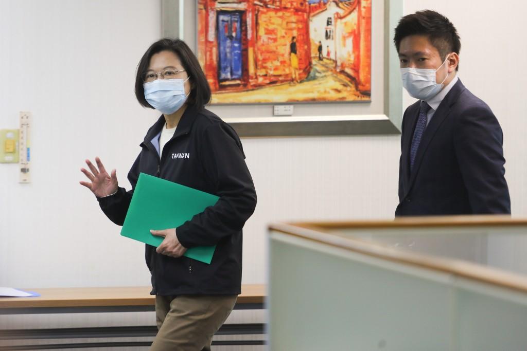 President Tsai Ing-wen (left).