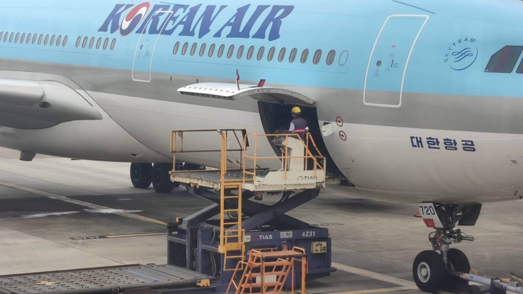Plane carrying 117,000 doses of AstraZeneca vaccine touches down in Taiwan early on March 3.
