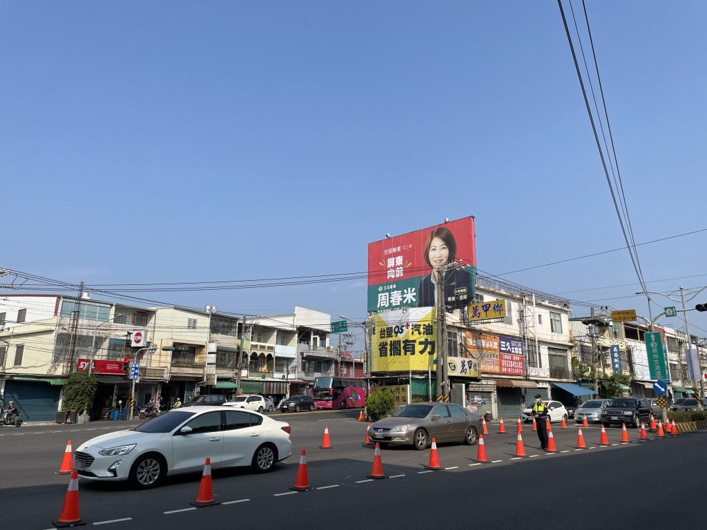 On the first day of the holiday, traffic south of Kenting.