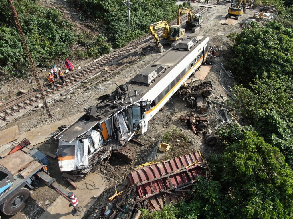 Crews working to clear wreckage from site of derailment.