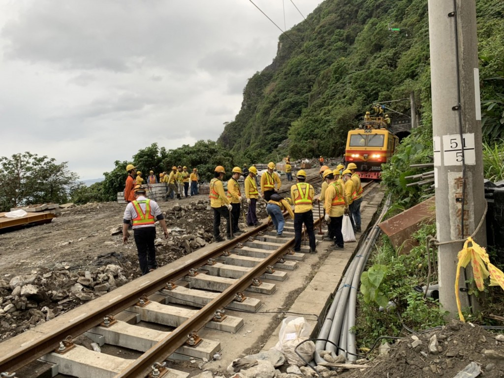 The eighth car from the train that suffered a derailment after colliding with a construction vehicle was finally extricated from a tunnel on Apri...