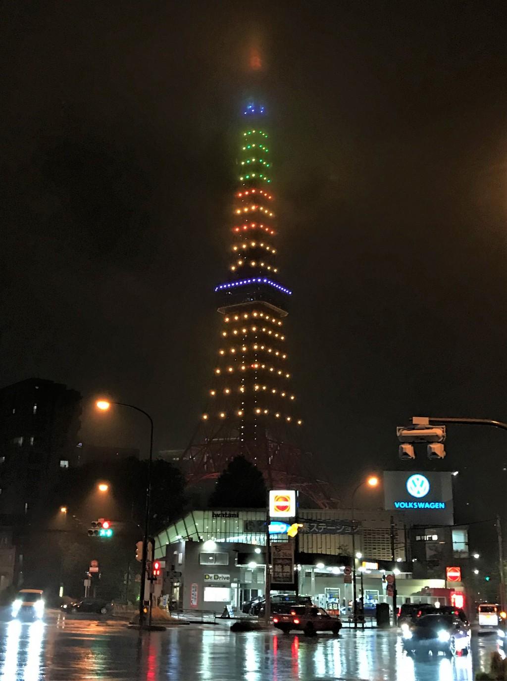 日本東京鐵塔台灣祭 鳳梨光雕台味濃