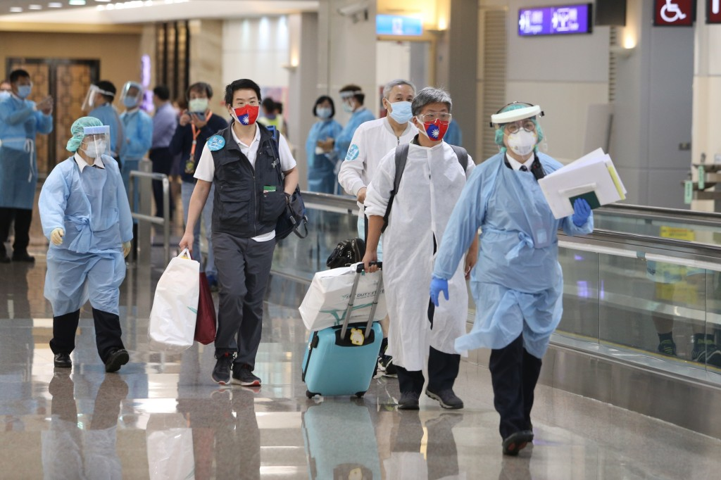 Taiwanese passengers returning from India via Japan Airlines.