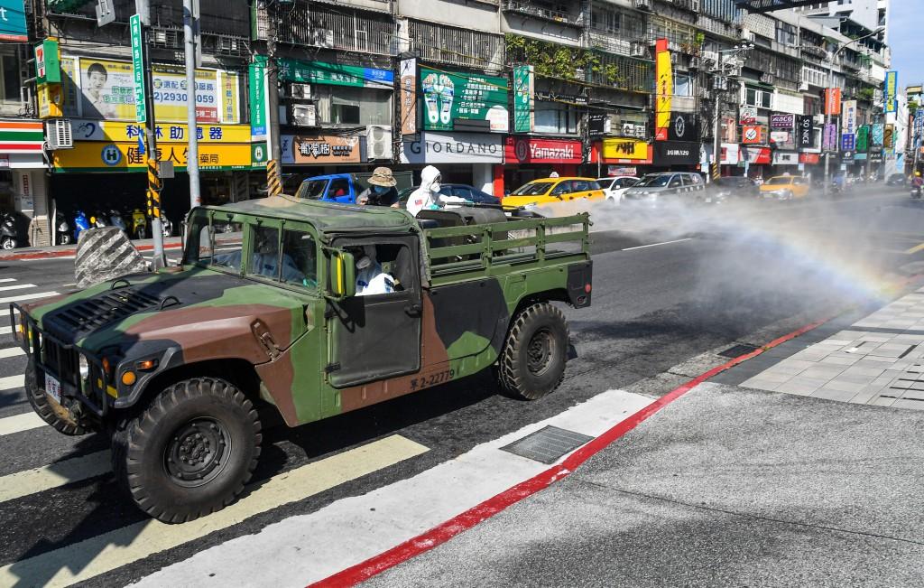 COVID sanitization in Taipei