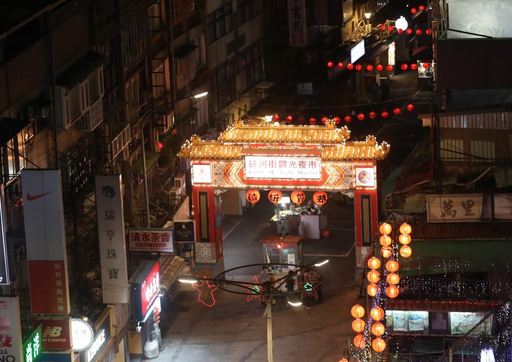 Empty night market in Taipei