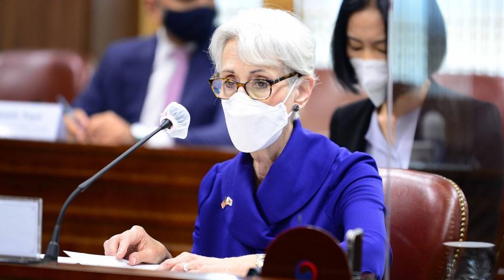 美國國務院副國務卿雪曼(Wendy Sherman)近日訪韓,結束行程後將訪問中國。 (韓國外交部提供)