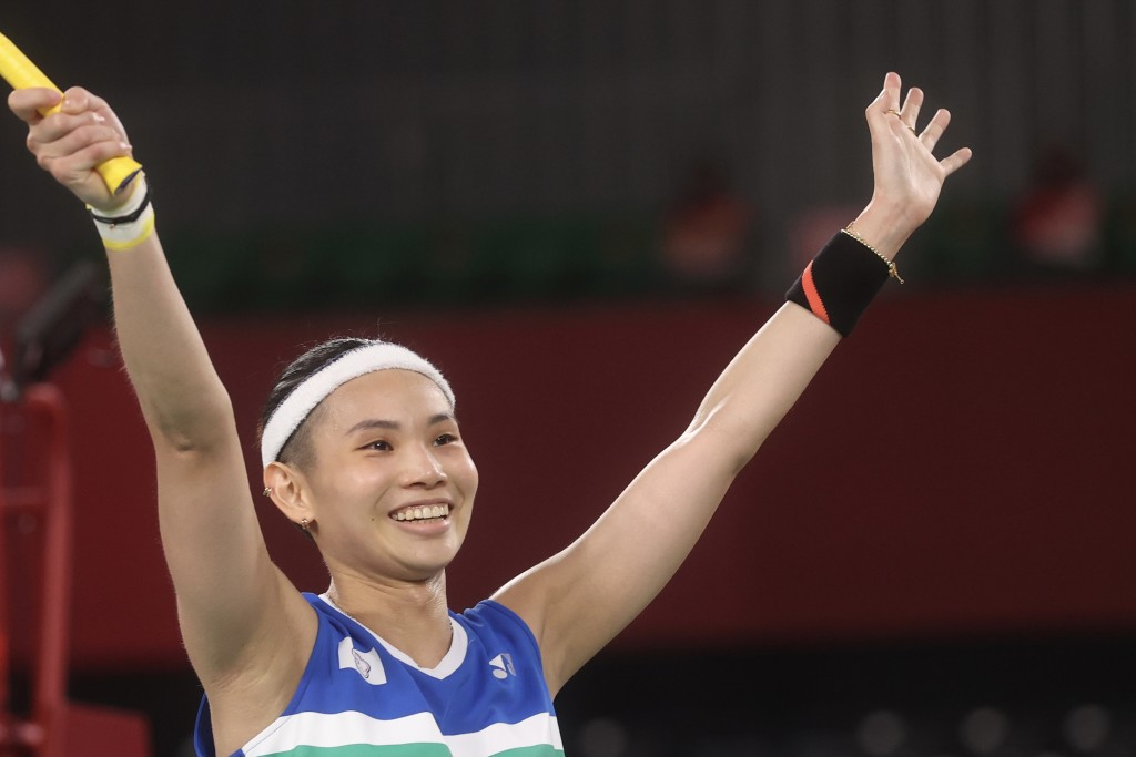 Tai Tzu-ying defeated P.V. Sindhu in two sets Saturday to set up a fight for the gold against China's Chen Yufei Sunday.
