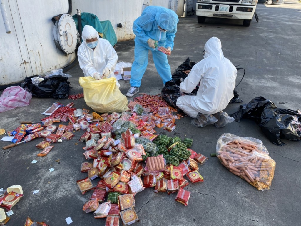 Over 71 kilograms of smuggled meat products have been destroyed. (Central Emergency Operation Center photo)