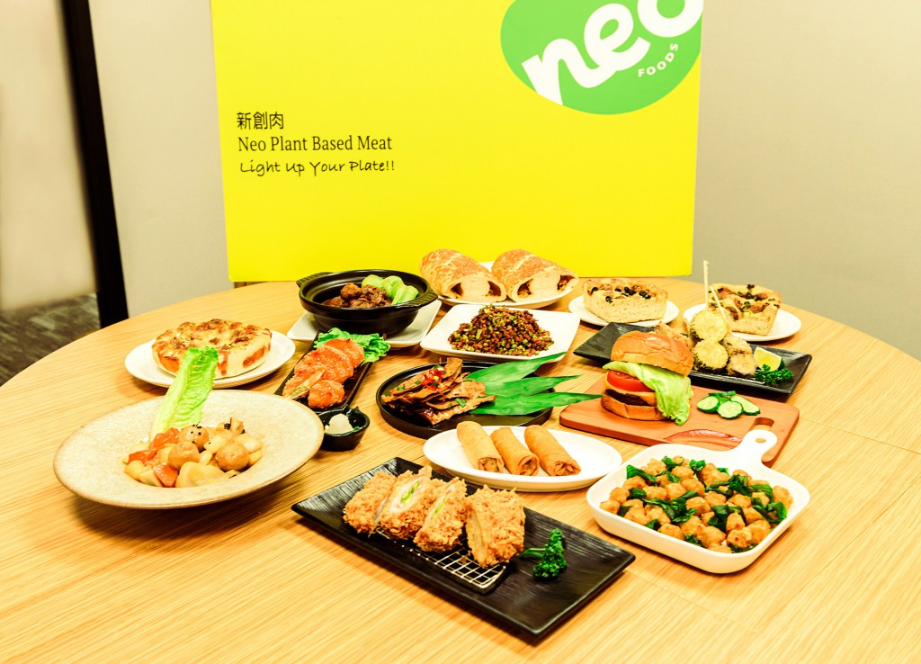 Dishes made from plant-based meat by DaChan's subsidiaryNeo Foods Company.
