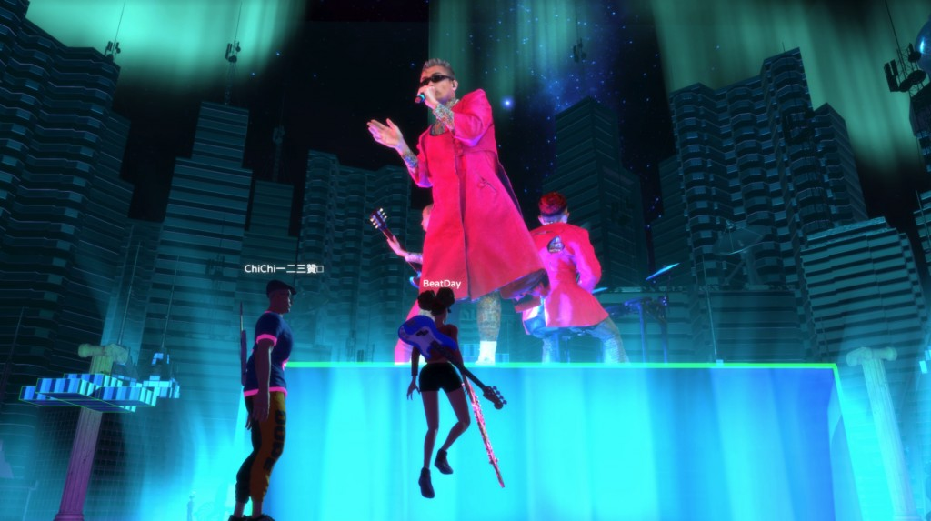 HTC Vive Original presents the world's first holographic music platform Beatday. (HTC photo)