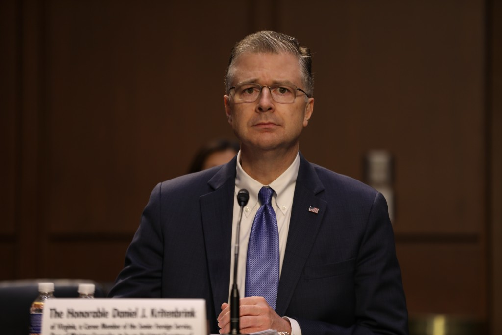U.S. Assistant Secretary for East Asian and Pacific AffairsDaniel Kritenbrink.