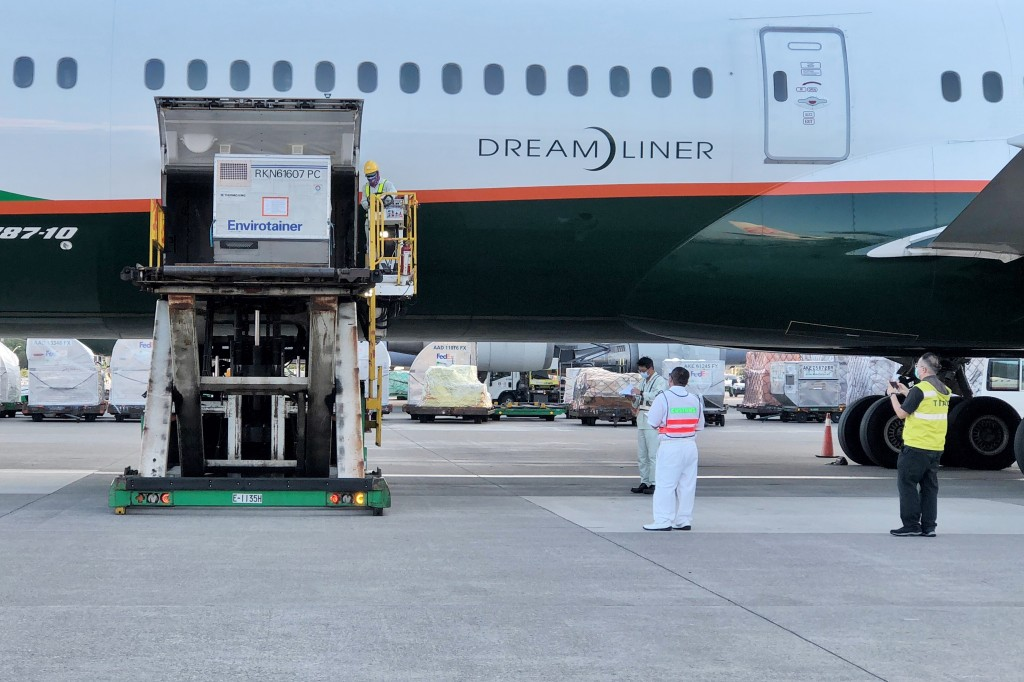 Slovakia's donated vaccines arrive in Taiwan.