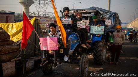 Thousands of farmers have camped near the border of New Delhi since November 26.
