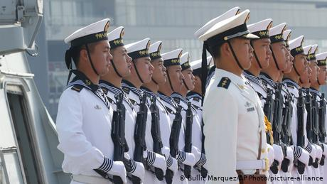 The US has warned China not to exert its military presence in the contested waters