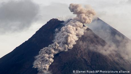Hot volcanic material flowed for 1,500 meters (4,900 feet) down the slopes of Mount Merapi