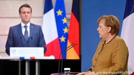 German Chancellor Angela Merkel and French counterpart President Emmanuel Macron discussed the future of several joint defense projects