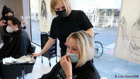 A cut above? There's been much debate in Germany about hairdressers getting to open while other businesses remain shut