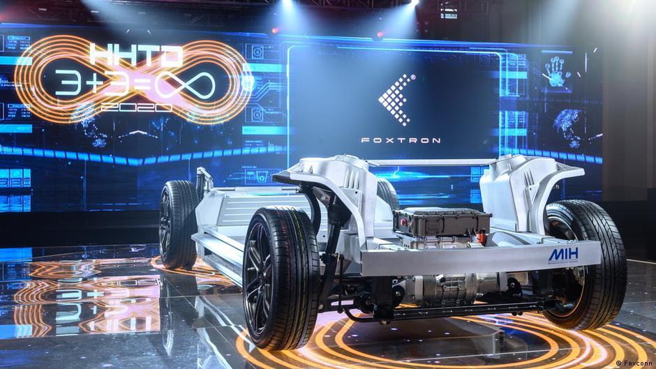 鴻海在2020年10月16日首次展示他們的「MIH電動車開放平台」(鴻海提供)
