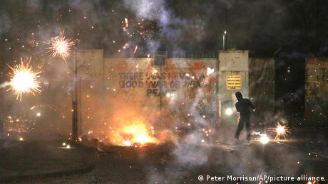Rioters clashed with police on Wednesday, the sixth consecutive night of unrest