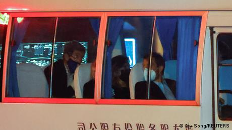 US climate envoy John Kerry arrives at a hotel in Shanghai on April 14
