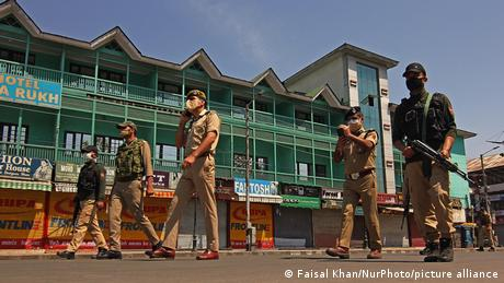 Kashmir imposed a lockdown following an unprecedented surge in new cases