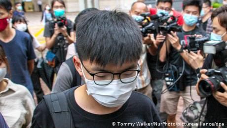 Joshua Wong was first sentenced to jail time in a hearing in March