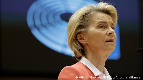 'Our priority is to ramp up production to achieve global vaccination,' said von der Leyen