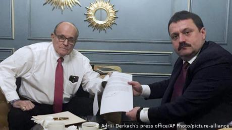 Rudy Giuliani and Ukrainian lawmaker Andriii Derkach are both under scrutiny