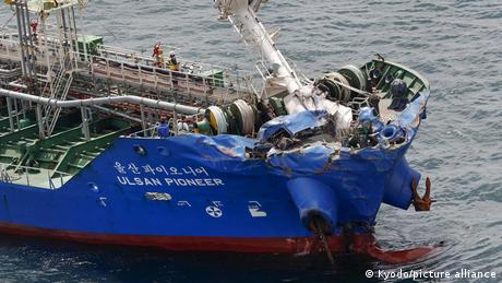 The chemical tanker was damaged but did not sink