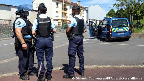 The French ex-soldier attacked his partner's new boyfriend before fleeing the police