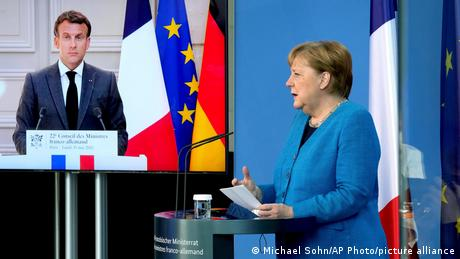 COVID-19 kept them from meeting in person but both leaders say close Franco-German cooperation is driving EU progress