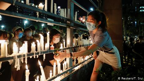 Last week, Hong Kong police banned the annual vigil from taking place, citing pandemic-related prevention measures