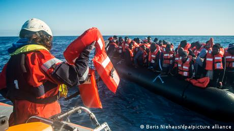 A Sea-Watch operation in international waters