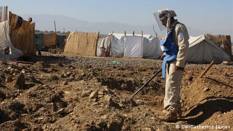Afghanistan is littered with land mines following decades of conflict