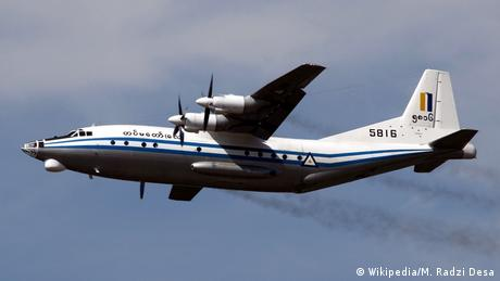 Myanmar Air Force Shaanxi Y-8 military transporter (File photo)