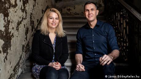 Veronika Munk and Szabolcs Dull, editors-in-chief of Telex.hu