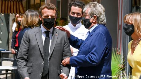 Macron, shortly before the slapping incident, had been meeting restaurant owners in the town of Valence.
