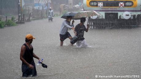 Heavy rains lashed India's financial hub Mumbai