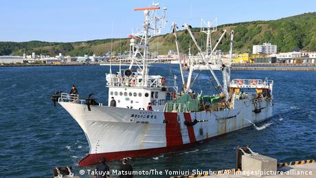 The boat returned to a port in northern Japan after nearly two weeks