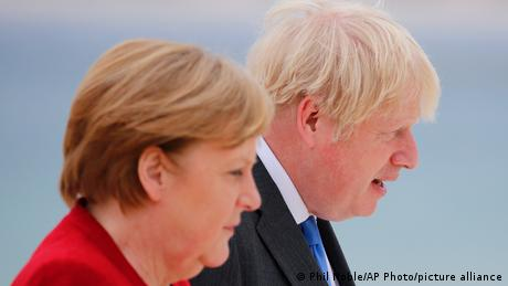 When Merkel first visited as chancellor, Tony Blair was her counterpart — her final meeting will be with Boris Johnson