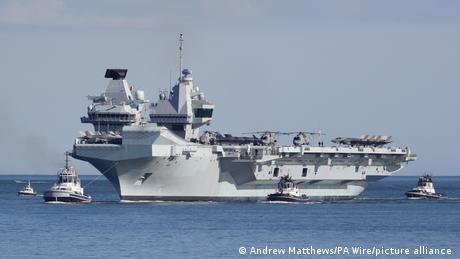 英國皇家海軍「伊麗莎白女王號」。(圖/picture alliance)