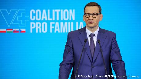 Prime Minister Morawiecki leads the populist right-wing Law and Justice party