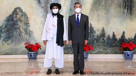 Taliban co-founder Abdul Ghani Baradar meets China's foreign minister Wang Yi