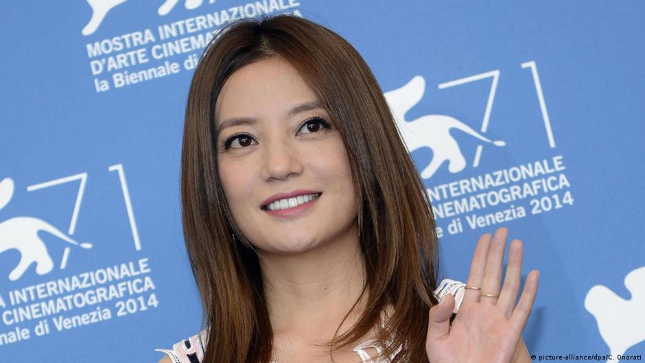 Zhao Wei seen at a film festival.