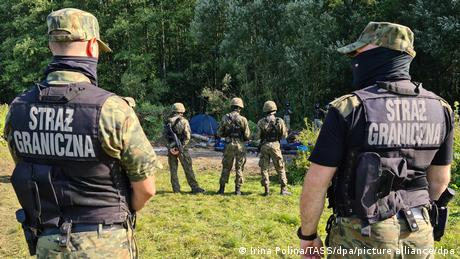 Polish authorities have dispatched a huge number of guards to police the border