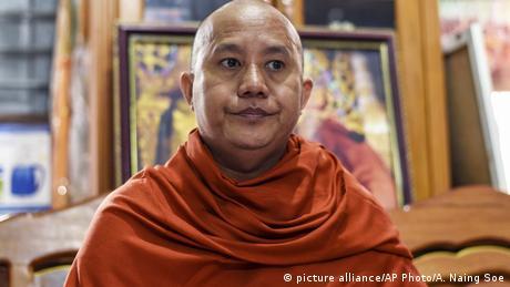 Ashin Wirathu, the nationalist, anti-Muslim monk freed by Myanmar's military junta Monday