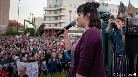 Slovenian activist Nika Kovac campaigns on many fronts