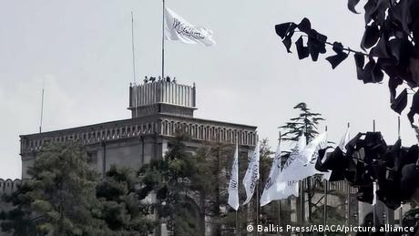 The Taliban raised their white flag on the presidential palace in Kabul on Saturday, the 20th anniversary of the 9/11 attacks