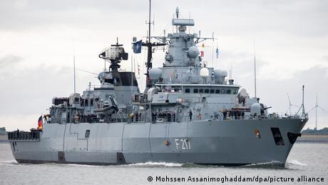 """The German Navy's trip with the """"Bayern"""" is the first of its kind in years"""