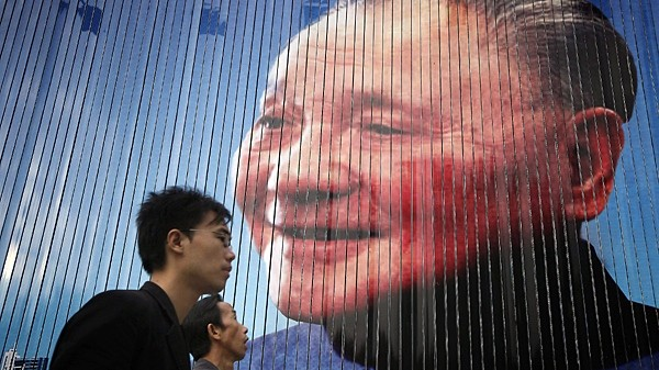 A portrait of Deng Xiaoping in Shanghai in 2010.